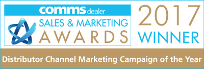 ProVu Comms Dealer Sales and Marketing Awards 2017. Channel Marketing Campaign of the year - WINNER