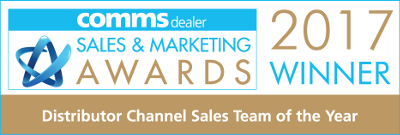 ProVu Comms Dealer Sales and Marketing Awards 2017. Channel Sales Team of the year - WINNER