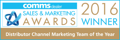 ProVu Comms Dealer Awards 2016. Channel Marketing Team of the year - WINNER