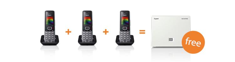 Buy 3 x Gigaset PRO Handsets & get a free N510IP PRO Base Station