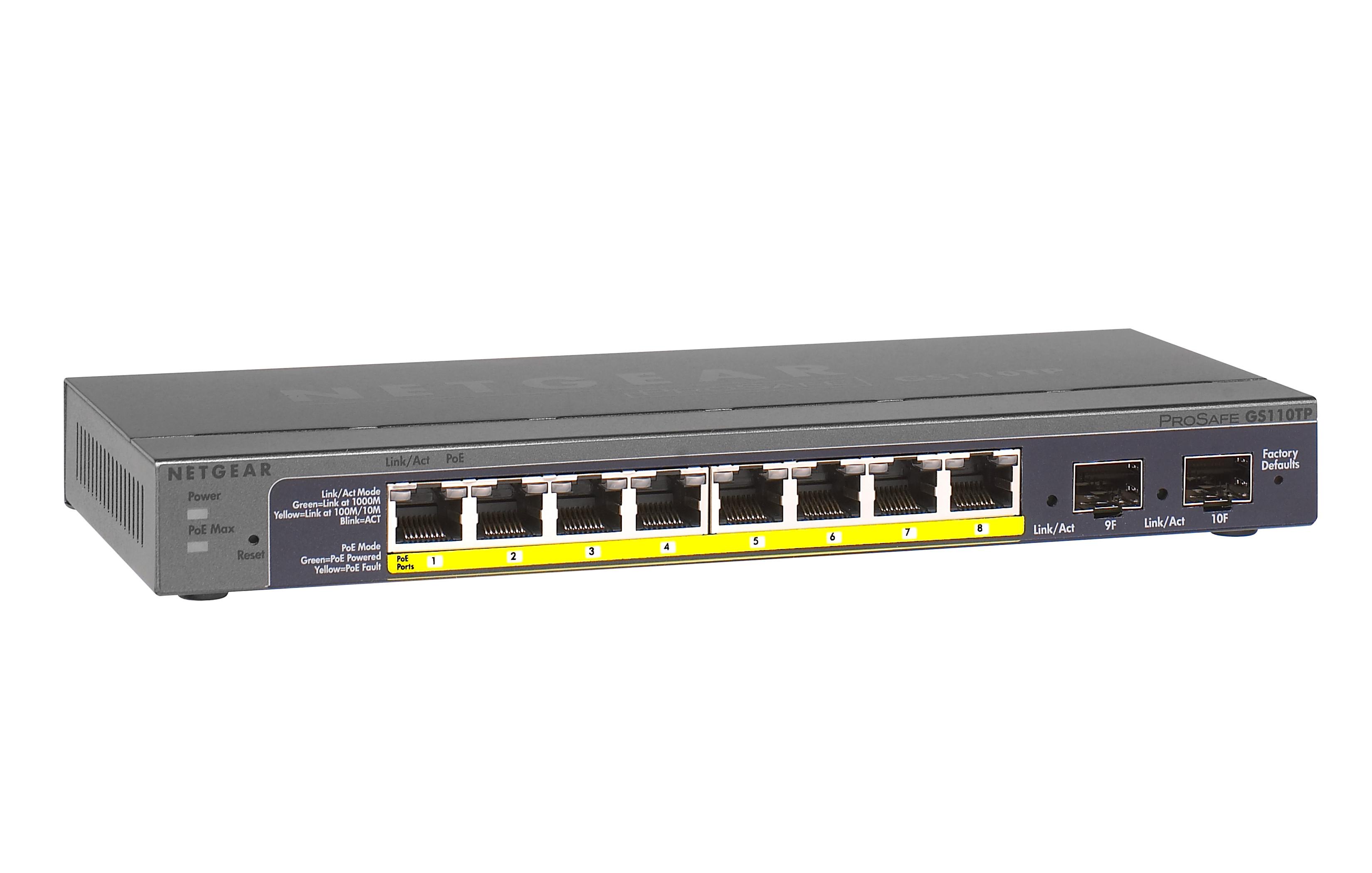 Netgear Prosafe Gs110tp Provu Communications