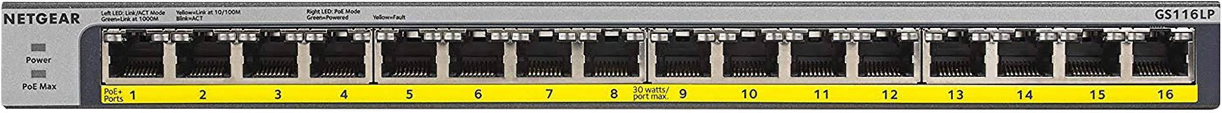 Netgear Prosafe Gs116lp Provu Communications