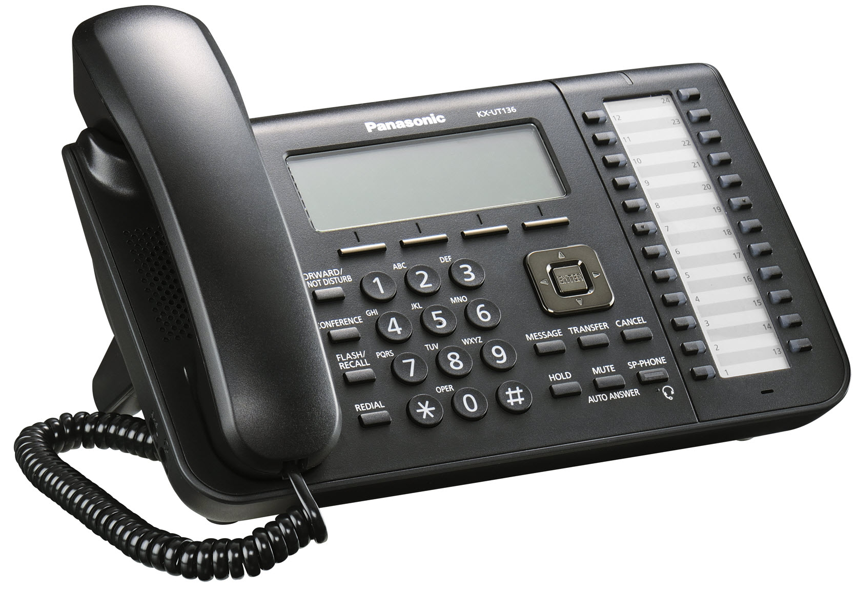 Panasonic Kx Ut136 Sip Desk Phone Available In Black And