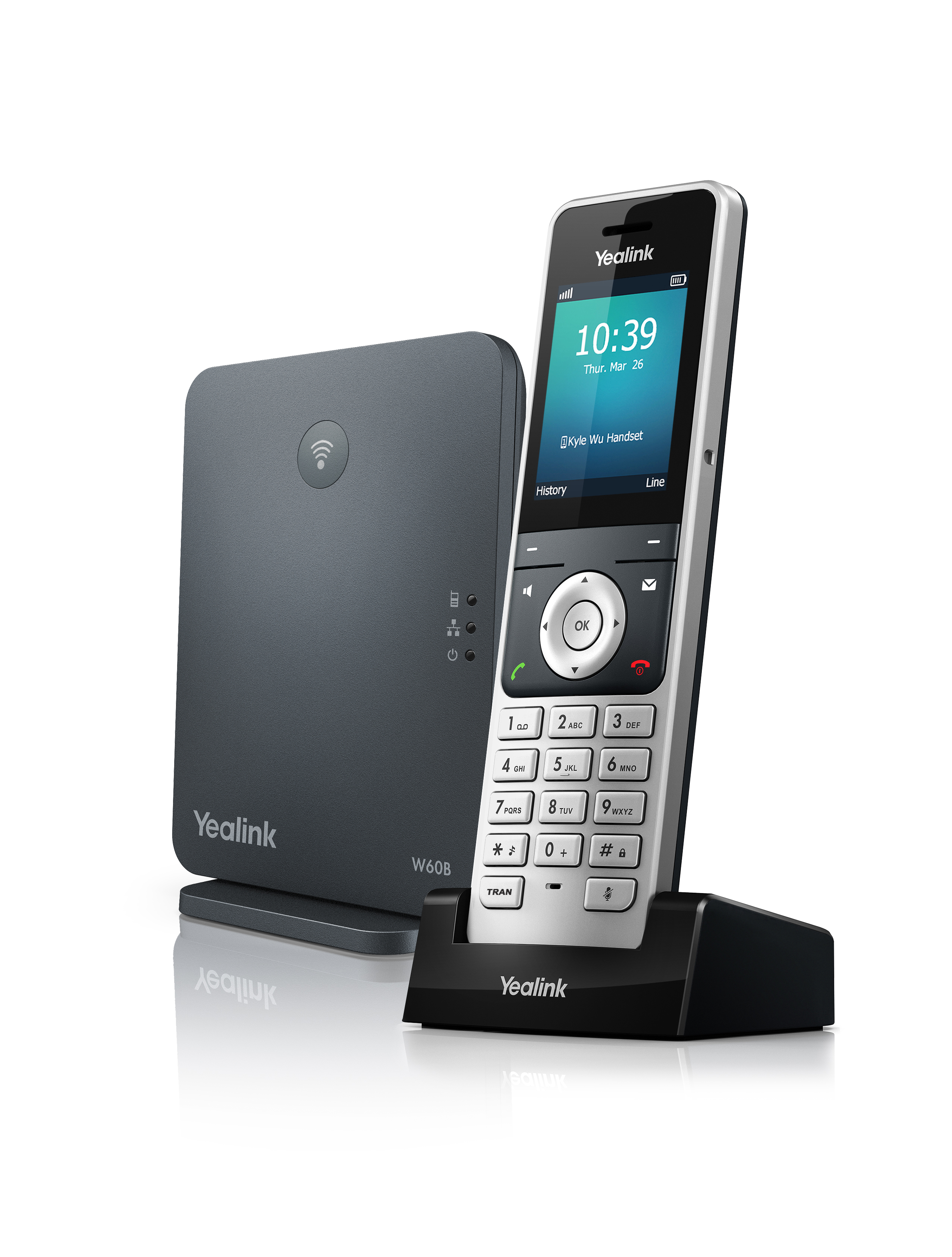 Yealink W60P Base station and DECT colour screen handset | ProVu
